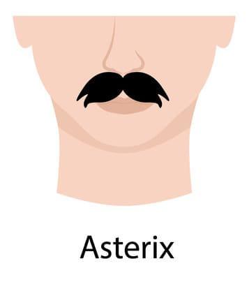 Illustration of a Asterix Moustache.
