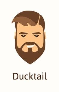 Illustration of Ducktail beard.