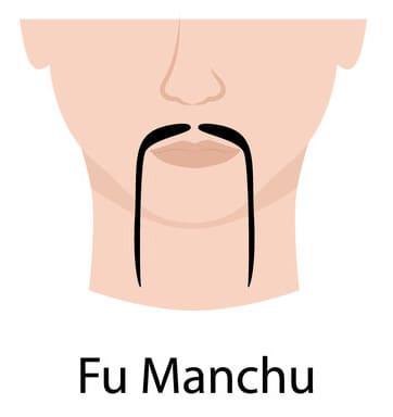 Illustration of a Fu Manchu Moustache.