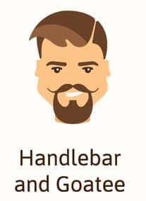 Illustration of Handlebar and Goatee beard.