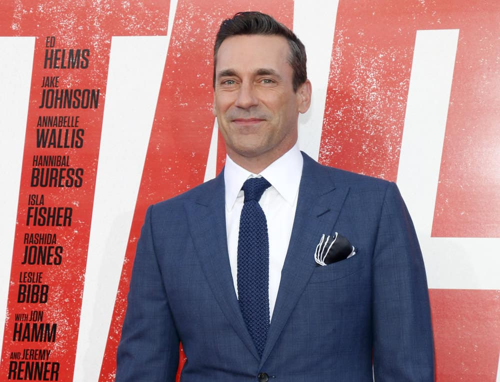 Jon Hamm in Don Draper corporate style