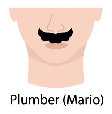 Illustration of a Plumber (Mario) Moustache.