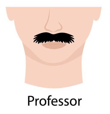 Illustration of a Professor Moustache.