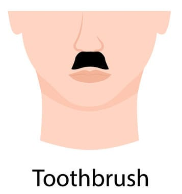 Illustration of a Toothbrush Moustache.