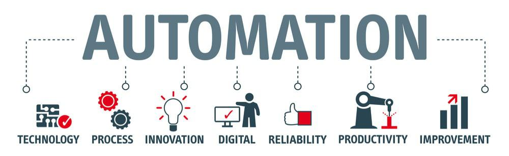 Illustration of an automation software process for small business.