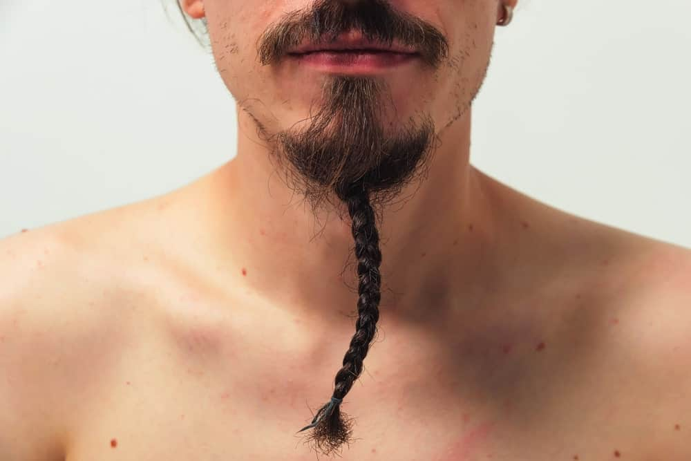 Man with long braided beard.