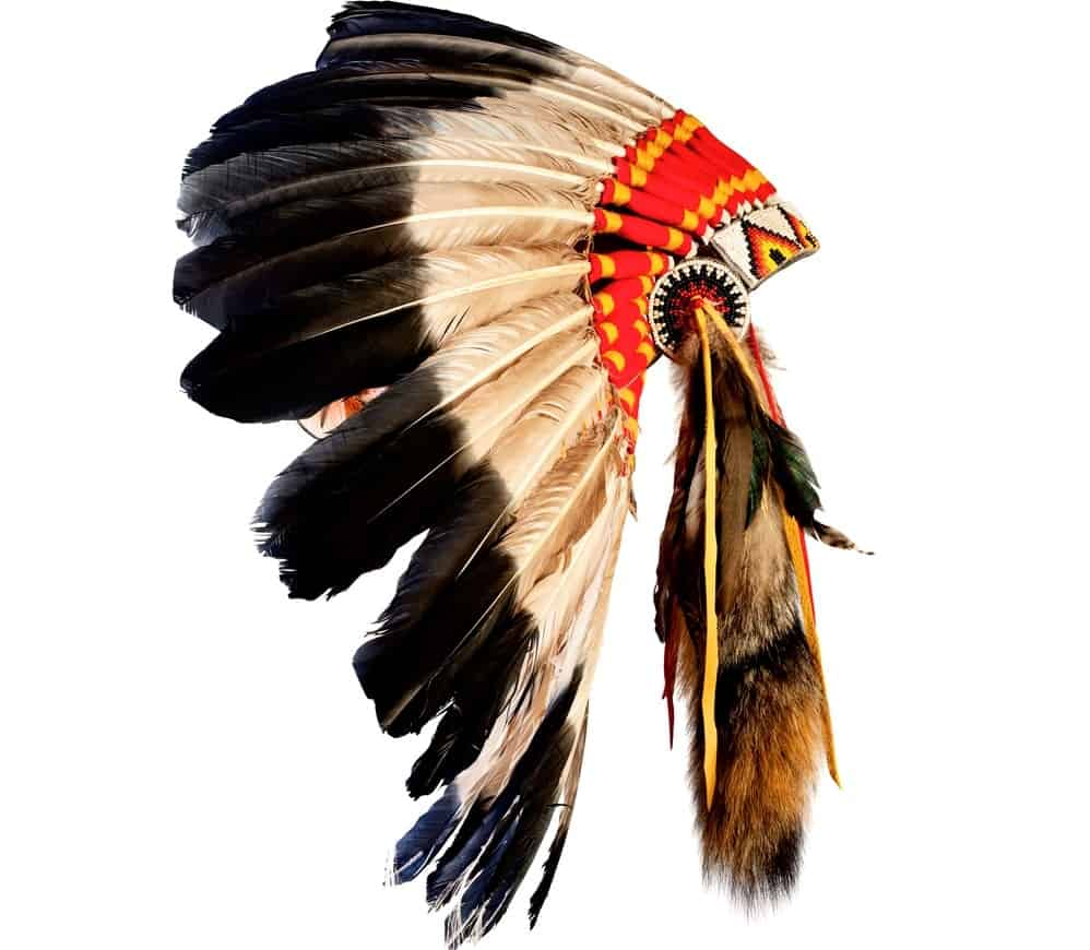 A colorful Native American headdress.
