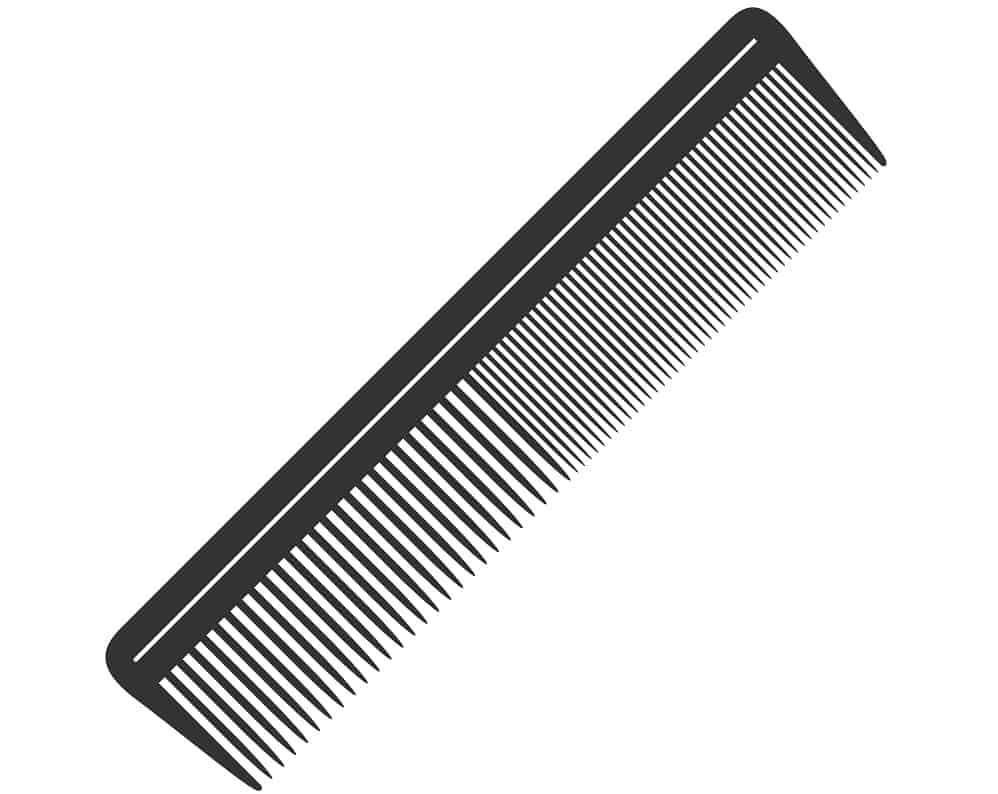 This is an illustrative representation of a black comb.