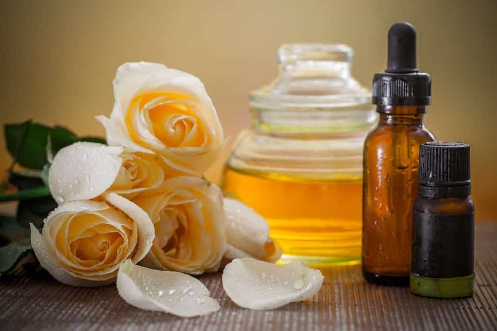 A close look at various aromatherapy materials.